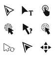 click icons set simple style vector image
