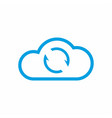 cloud sync icon synchronize data symbol vector image