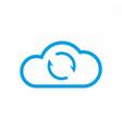 cloud sync icon synchronize data symbol vector image