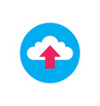 cloud upload - concept icon in flat graphic design vector image vector image