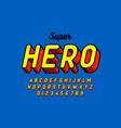 comics style font superhero vector image vector image