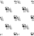 Cow icon black Single bio eco organic product vector image