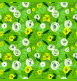 cute floral seamless pattern background with hand vector image vector image