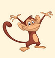 cute monkey cartoon icon vector image vector image