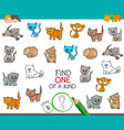 find one of a kind with cat characters vector image vector image