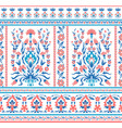 floral pattern in folk style vector image