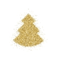 Gold glitter Christmas tree vector image