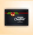 golden bells christmas banner background vector image vector image