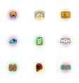 Hockey icons set pop-art style vector image vector image