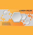 honeycomb background of geometric hexagons vector image vector image