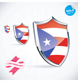 I Love Puerto Rico Flag vector image vector image