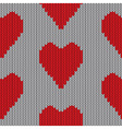 Knitted heart Valentine day holiday handmade seaml vector image vector image