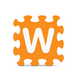 letter W written with alphabet puzzle vector image