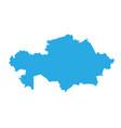 map of kazakhstan high detailed map - kazakhstan vector image vector image