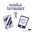 Mobile Internet icon tools vector image vector image