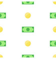 money bank notes and coins on white background vector image