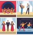 musical concerts cabaret and jazz opera and rock vector image