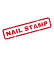 Nail Stamp Rubber Stamp vector image vector image