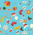 new year symbols christmas holiday seamless vector image