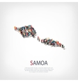 people map country Samoa vector image vector image