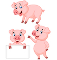 Pig cartoon collection vector image