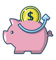 pig money icon cartoon style vector image