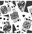 playing cards seamless pattern background vector image vector image