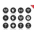 Radio tower icons on white background vector image vector image