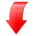 red down arrow vector image