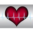 red heart blue white cardigram vector image