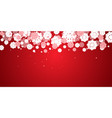 red new years christmas background with vector image vector image