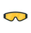 safety glasses icon flat style vector image vector image