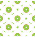 seamless pattern with kiwi slices for kitchen vector image
