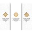 set golden logo with elegant elements vector image vector image