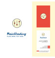 setting creative logo and business card vertical vector image