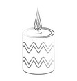 spa candle aromatherapy vector image vector image