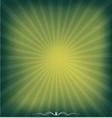 sunburst green background vector image