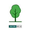 tree icon green colour style eps 10 vector image