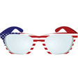 usa flag glasses vector image vector image
