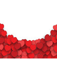valentines day background with heart stickers vector image vector image