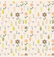 vintage pattern with little flowers vector image vector image