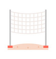 volleyball net on beach sand flat icon vector image
