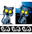 Zom cat with boo border vector | Price: 3 Credits (USD $3)