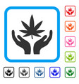 cannabis care framed icon vector image