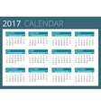 Calendar for 2017 Week Starts Sunday Simple vector image