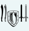 Shield and set dagger vector image