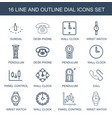 16 dial icons vector image vector image