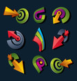 3d abstract shapes different business icons and vector image vector image
