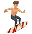 A man surfing vector image vector image