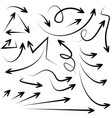 abstract arrows in doodle style for concept design vector image vector image